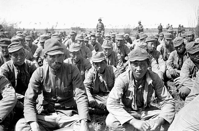 Captured Japanese soldiers
