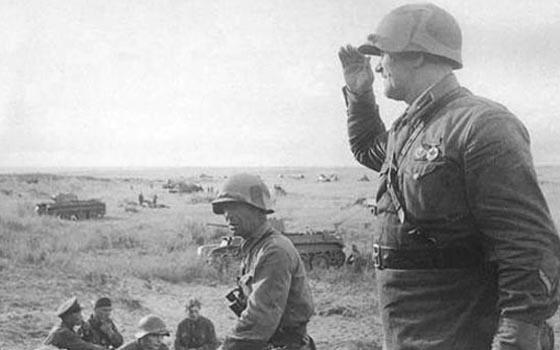 Zhukov surveys Russian positions